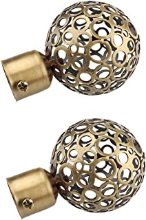 PETSOLA 1Pcs Curtain Panel Rod Head//Ends//Finals Decorative For 28mm Poles Bronze Ball as described