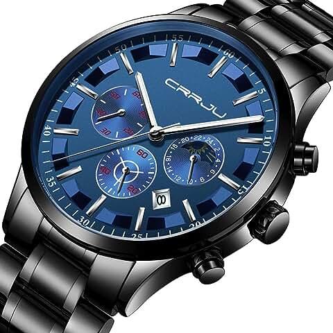 Crrju Men's Casual Chronograph Quartz Watch