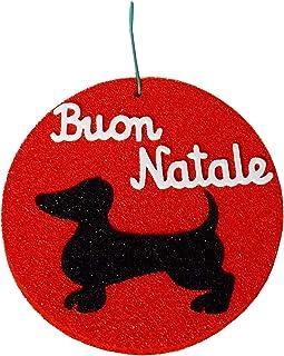 N.5 Decorazioni natalizia bassotto