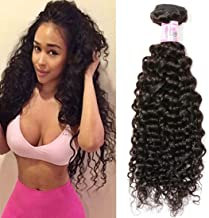 Beauty Forever Brazilian Curly Hair 1 Bundle 95-100g Hair Weave 100% Unprocessed Human Virgin Hair Extensions Natural Color Can Be Dyed And Bleached (16 inch)