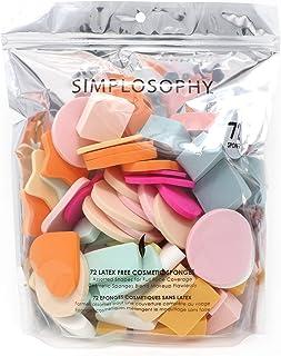 Simplosophy Pack of 72 Assorted Cosmetic sponges
