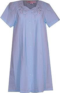 Women's Seersucker Plus Size Lounge Dress - Robe