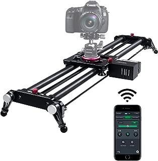 ASHANKS 電動スライダー スライダー カメラ 80cm App Bluetooth Control 電動式 ビデオ安定レール 炭素繊維 ドリー DSLRカメラ/DV/ビデオカメラ/一眼レフ/フィルム/低速度撮影に最適 耐荷重約8kg 専用収納袋付き