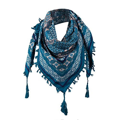 4261f5516 CHshe Elegant Tassel Floral Printed Scarf Made from Polyester,