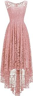 MisShow Damen Abendkleid Ärmellos Cocktailkleid Elegante Partykleid Spitzenkleid