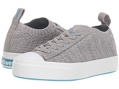 Native Kids Shoes Jefferson 2.0 Liteknit Low (Little Kid) (Pigeon Melange/Shell White) Kid