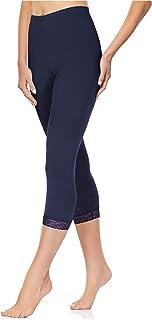 Merry Style Damen 3/4 Capri Leggings aus Baumwolle mit Spitze MS10-224