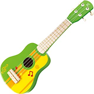 Kids Ukulele Toy Guitar for Toddlers – Hape Wooden Ukulele Kids Guitar for Girls or Boys; Starter Acoustic Hawaiian Ukulele Musical Instrument (Green)