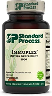 Standard Process Immuplex - Whole Food Immune Support and Antioxidant Support with Chromium, Folate, Vitamin B6, Copper, S...