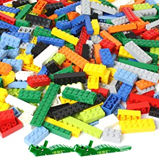 Brickyard Building Blocks 1,100 Piece Building Bricks Toy - Bulk Block Set with 154 Roof Pieces, 2 Free Brick Separators, Compatible with Lego