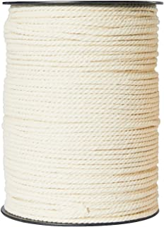 Macrame Cord 4mm x 220 Yards, Macrame Rope, Natural Cotton Macrame String for Crafting Macrame Supplies, Plant Hangers, Knitting