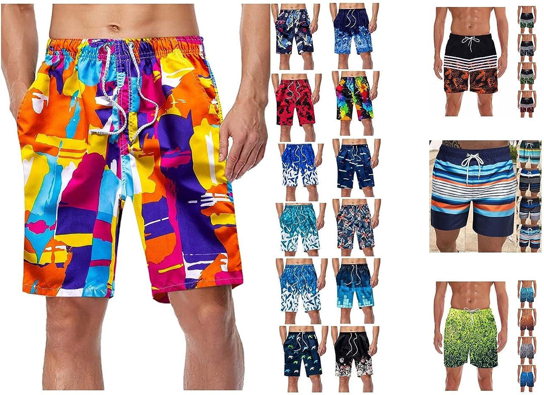 MAPIJIN Men's Summer Outdoor Quick-Drying Swimming Five-Point Pants Beach Shorts