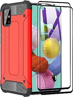 FANFO® fodral till Samsung Galaxy A51 5G [Heavy Duty] rustning, tuff hårt skyddande stötsäker dubbla lager skydd anti-stöt...