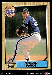 1987 Topps # 757 Nolan Ryan Houston Astros (Baseball Card) Dean's Cards 8 - NM/MT Astros