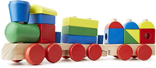 Melissa & Doug 572 Stacking Train - Classic Wooden Toddler Toy (18 pcs)