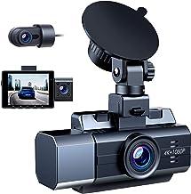 Campark 3 Channel Dash Cam for Cars 4K 1080P Dual Channel، 1440P 1080P 1080P Front Inside دوربین عقب IR دید در شب ، خازن ، حالت پارکینگ ، پشتیبانی 256 گیگابایت حداکثر