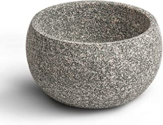 CHARMMAN Shaving Bowl for Men, Natural Granite Stone, Keep Warm Better, Easier to Lather, Exquisite Works of Shave Art(Seabed Red)