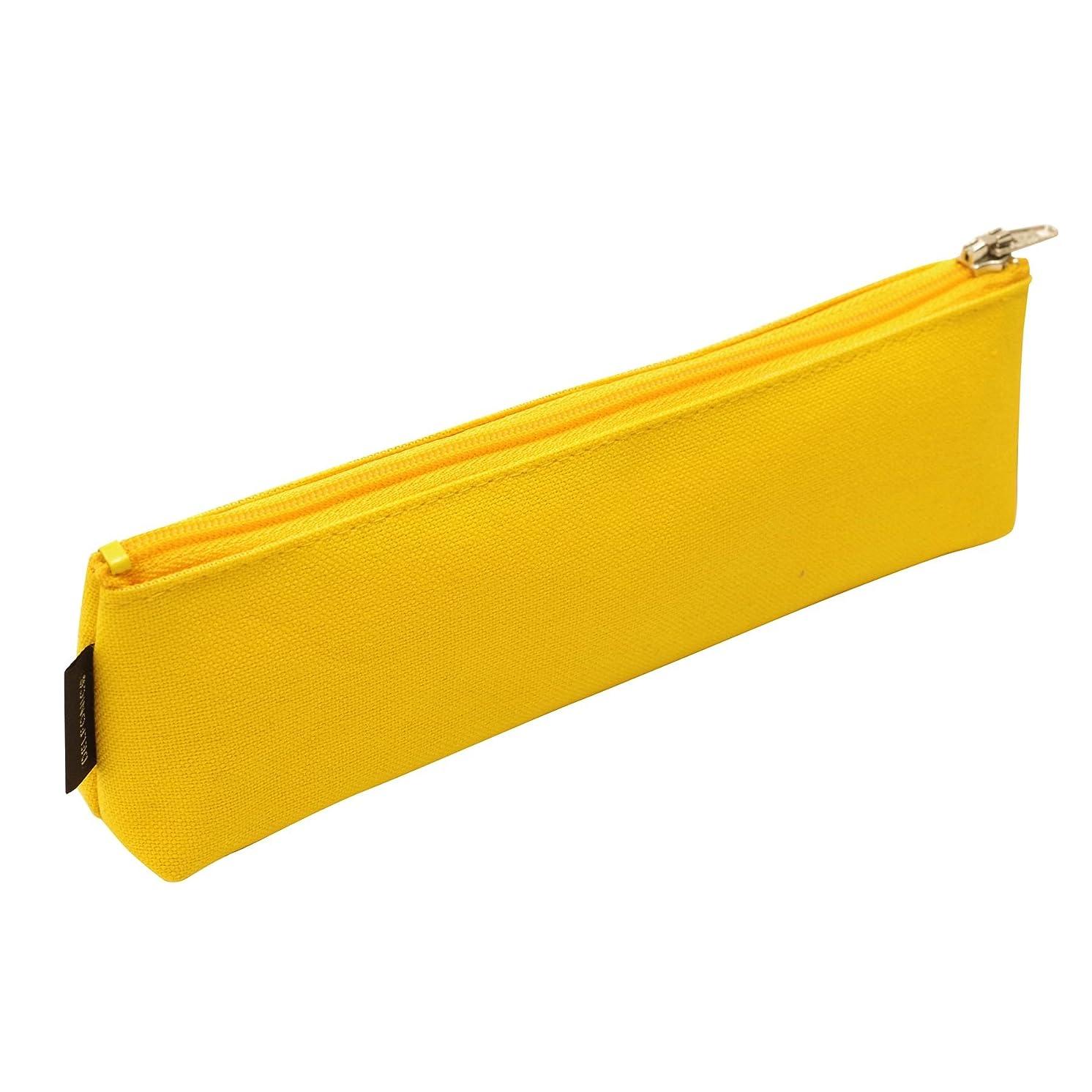 [DELFONICS] Marek Pencil Case Simple Cotton School Pen Bag Pencil Pouch Case 500314 Yellow