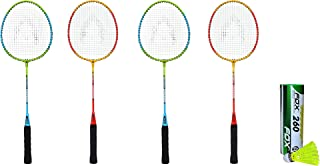 Bipan's Phoenix Badminton Racket Combo Set with Nylon Shuttlecock (Pack of 6)