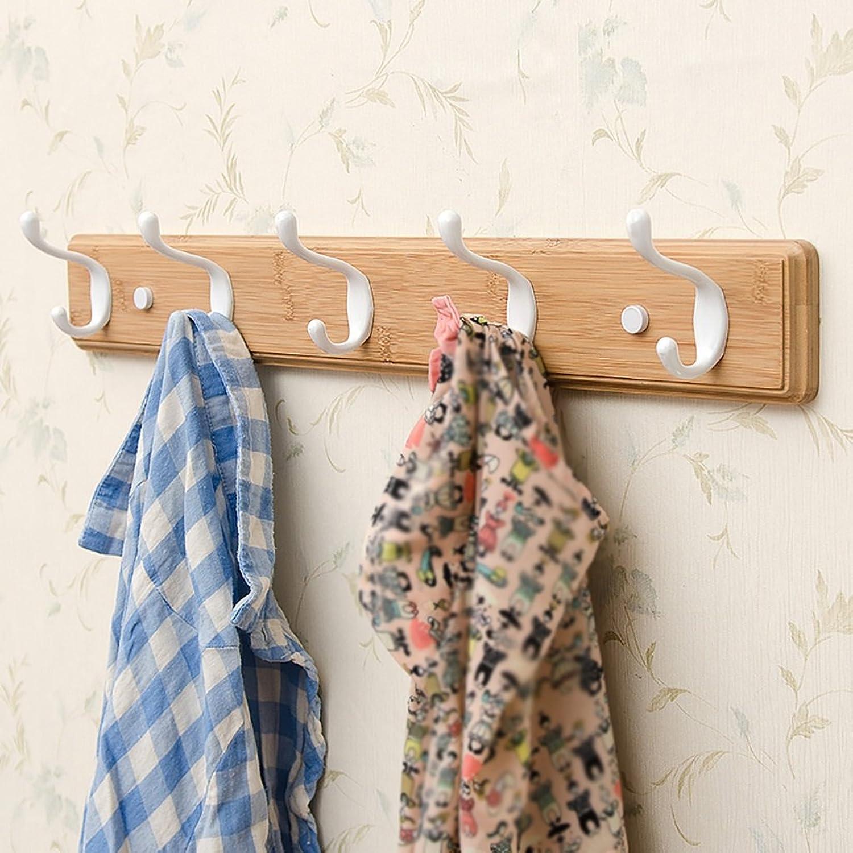 LXLA- Shelf Hangers Coat Rack Hook Up Double Wood Bamboo Wall-mounted (Available 3,4,5,6,Hooks,35.5 48.2 61 73.8  7.8  8 cm) ( Size   5 hooks )