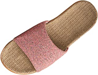 XINGYUE Flax Tatami Slippers No Slip Indoor Slippers Open Toe