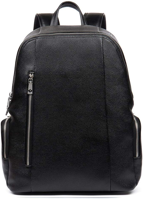 KHDJH Rucksack Echtes Leder Herren Ruckscke Für Laptop Notebook Computer Taschen Mnner Business Style Rucksack