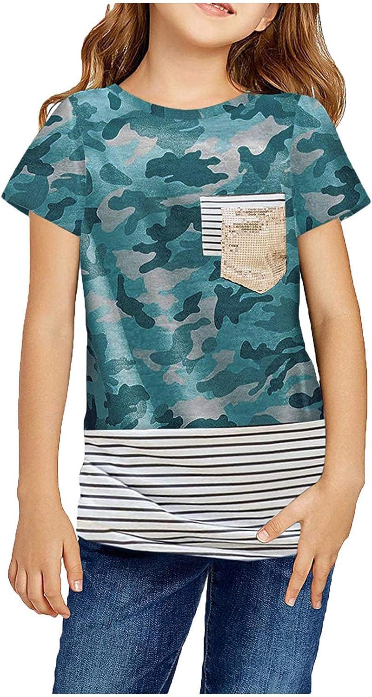 Digood Girls Casual Solid Color Los Washington Mall Angeles Mall Tops Kids Tunic Top