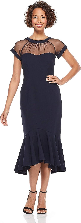 Maggy London Women's Petite Illusion Cocktail Dress