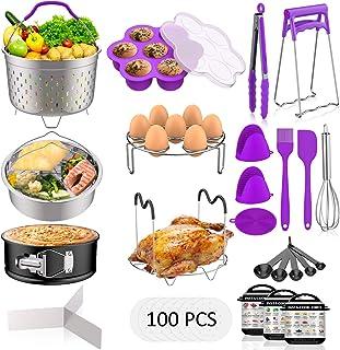 120 PCS Accessories Set for Instant Pot, Fungun Accessories Compatible with 5/6/8Qt Instant Pot, 100 Pcs Cake Baking Paper...