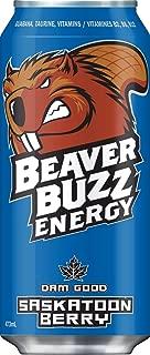 Canadian Beaver Buzz (BLUE Can) SASKATOON BERRY Energy Drink - 16oz x 12pk