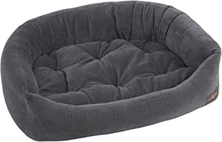 Jax and Bones  40 x 32 x 12-Inch Ripple Velour Napper Dog Bed, Large, Storm