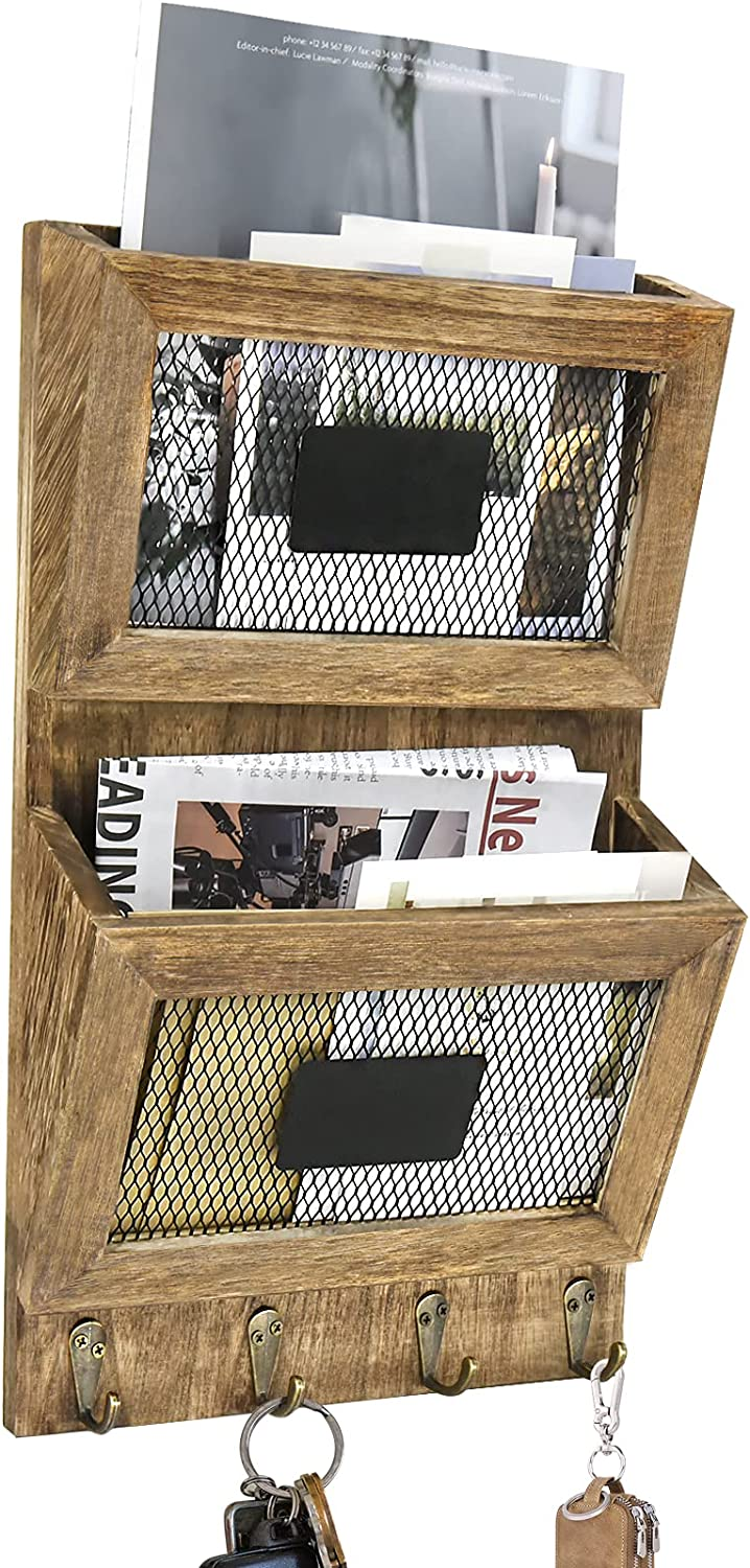 Time sale Key and Mail Organizer for Wall High quality new Org 2-Slot Decorative