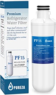 LT1000P Refrigerator Water Filter, Compatible with LG LT1000P, LT1000P, LT-1000PC, MDJ64844601, Kenmore 46-9980, 9980, ADQ74793501, ADQ74793502, by Pureza, (Pack of 1)