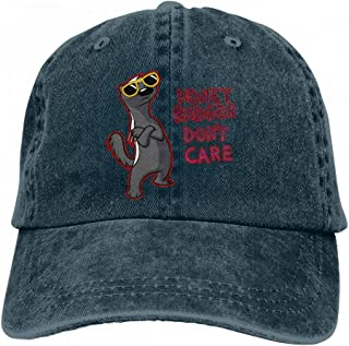 Honey Badger Don T Care Fashion Unisex Washed Cap Adjustable Dad's Denim Stetson Hat