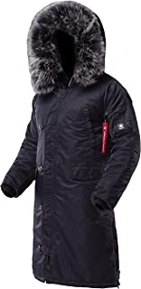 AIRBOSS Men's Parka N-7B Shuttle, Long and Warm Winter Coat for Cold Wether