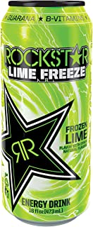 Rockstar Energy Drink Juice, Lime Freeze, 24 Fluid Ounce (Pack of 24)