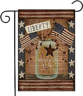 Briarwood Lane Liberty Primitive Patriotic Garden Flag Declaration of Independence 4th of July
