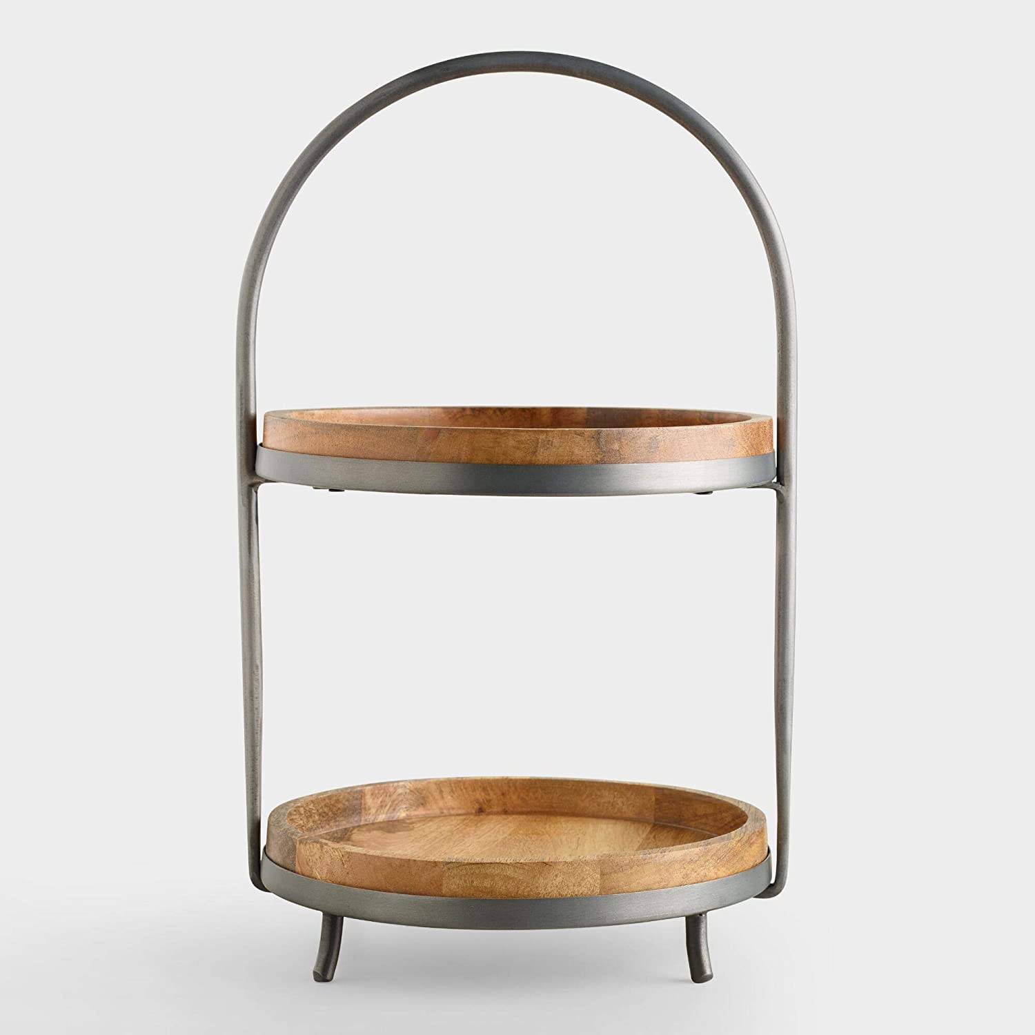 Wood Ranking TOP5 and Ranking TOP16 Metal Serving 2-Tier Stand