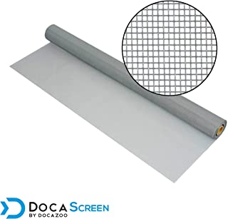 "DocaScreen Standard Window Screen Roll – 60"" x 100' Fiberglass Screen Roll – Window, Door and Patio Screen – Insect Screen // Fiberglass Screening // Screen Replacement // Window Screens (Gray)"