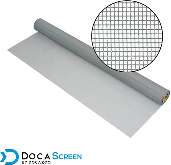DocaScreen Standard Window Screen Roll 84 X 100 Fiberglass Screen Roll Window Door And Patio Screen Insect Screen Fiberglass Screening Screen Replacement Window Screens Gray