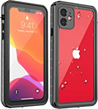 Eonfine Waterproof Case for iPhone 11, Full Sealed IP68 Certified Snowproof Dustproof Shockproof Heavy Duty Protection Underwater Cover for iPhone 11 6.1 Inch 2019 Release (Black/Clear)