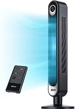 Dreo 42 Inch Tower Fan with Remote. Floor Fan Oscillating 90°. Powerful Fan 6 Speeds. Quiet Bladeless Fan. 3 Modes. 12-Hour T