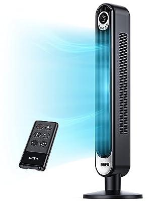 "Dreo 42"" Tower Fan with Remote. Floor Fan Oscillating 90°"