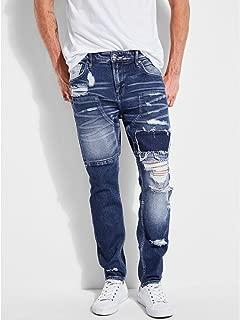 two tone zipper jeans