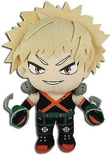 "Great Eastern GE-52236 My Hero Academia Katsuki Bakugo Hero Suit Stuffed Plush,Multicolored,8"""