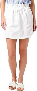 Women's Denim Paper Bag Waisted Skirt