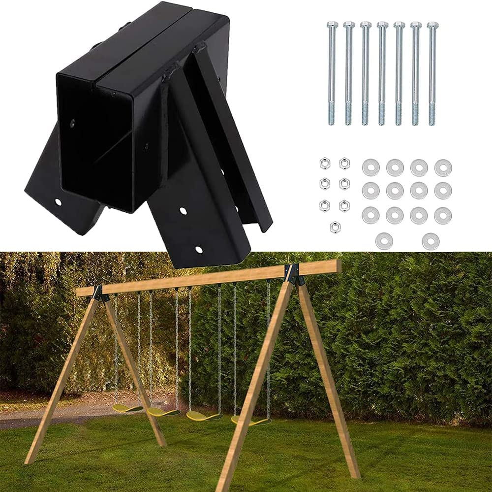 vikofan 1Pcs EZ A-Frame Bracket Fit for DIY Playset Swing Set Sw