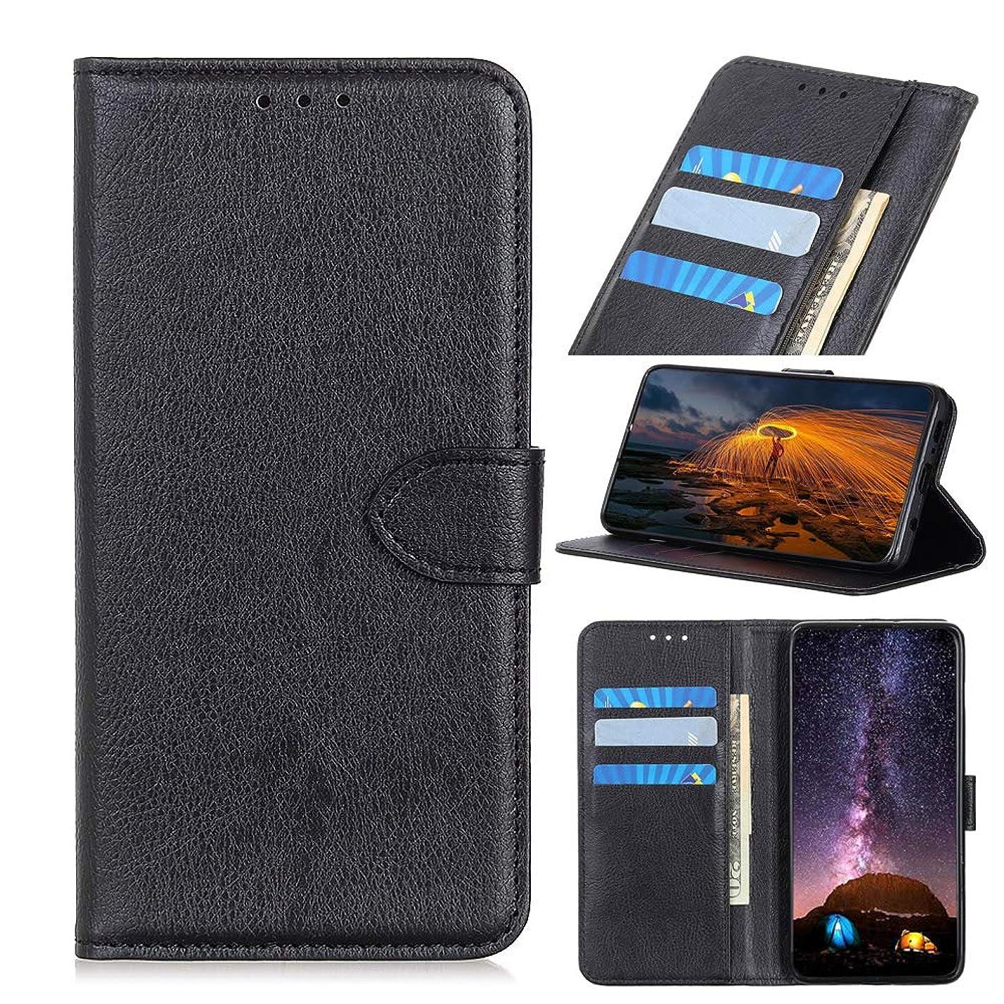 強度健康購入Scheam ケース 手帳型 合皮レザー 為にAsus ZenFone Max Pro M1 (ZB601KL ZB602KL), 高級PUレザー 財布型 カード収納 マグネット スタンド機能 付 き スマホケース, ブラック
