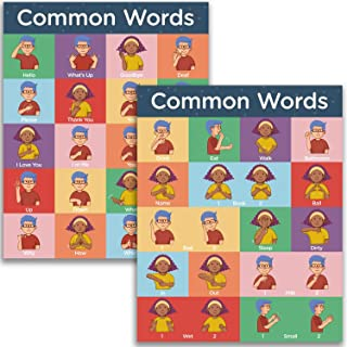 American Sign Language Poster Common Words - ASL for Kids to Learn Everyday Signs