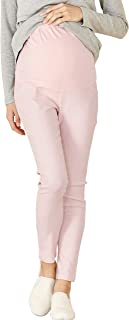 Sweet Mommy Maternity Over Bump Stretch Colored Ankle Length Skinny Pants Work Office Casual